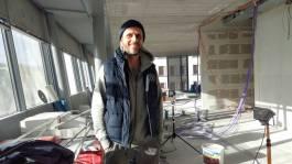 Tino Schößner in den zukünftigen Coworking Spaces